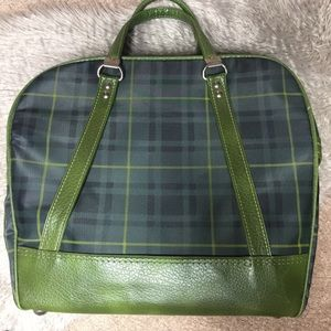 Vintage Plaid Hobby Carry On Bag with Handles